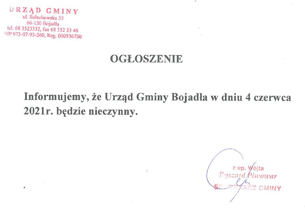 Ilustracja do informacji: Informacja o działaniu Urzędu Gminy