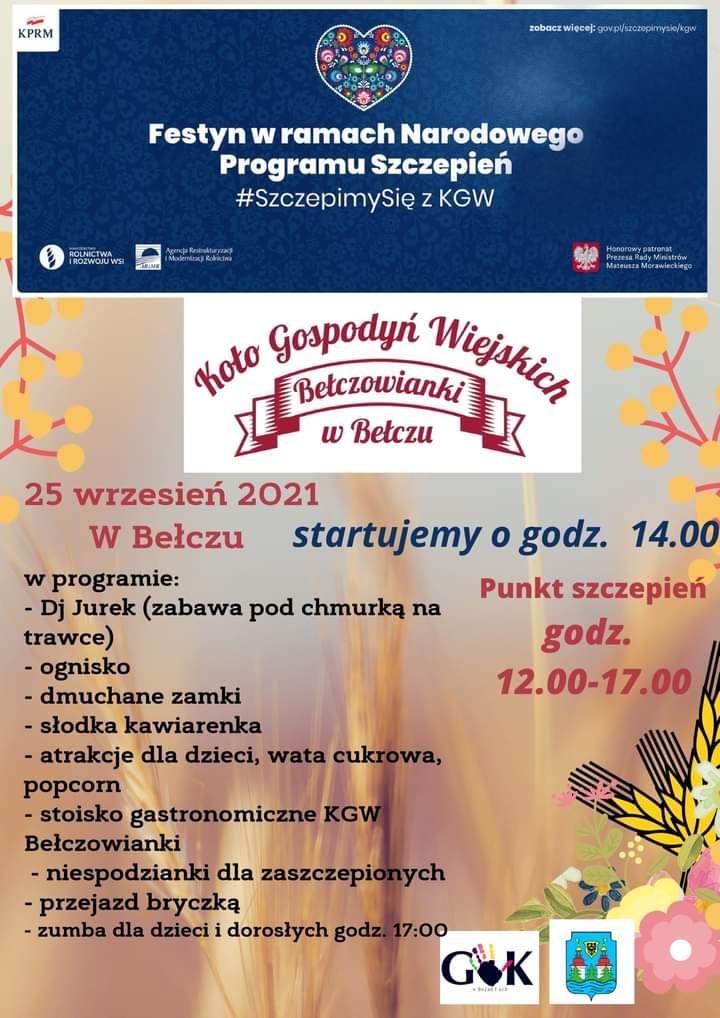 Ilustracja do informacji: Koło Gospodyń Wiejskich w Bełczu zaprasza na Festyn