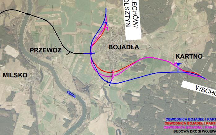 Ilustracja do informacji: Konsultacje do budowy obwodnicy m. Bojadła i m. Kartno