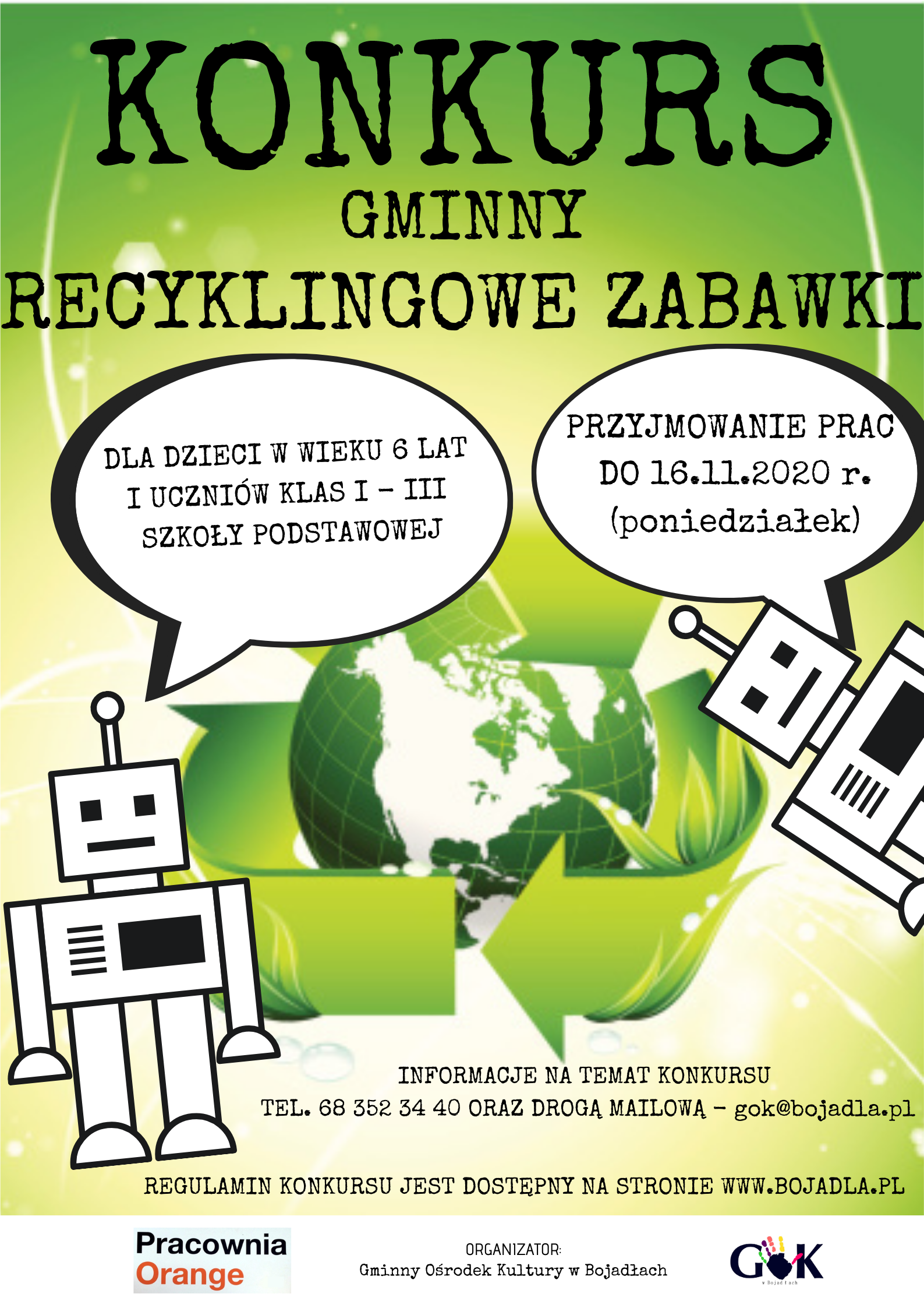 Ilustracja do informacji: Konkurs gminny - recyklingowe zabawki